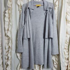 St. John Wool Alpaca double layer sweater cardigan
